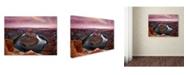 "Trademark Global Mike Jones Photo 'Horseshoe Bend Dusk' Canvas Art - 32"" x 24"" x 2"""