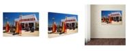 """Trademark Global Mike Jones Photo 'Rt 66 Kansas Kanotex' Canvas Art - 19"""" x 12"""" x 2"""""""