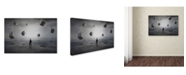 "Trademark Global Moises Levy 'El Senor De Los Cubos' Canvas Art - 32"" x 22"" x 2"""