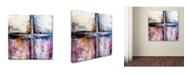 "Trademark Global Natasha Wescoat 'Symbiotic' Canvas Art - 35"" x 35"" x 2"""