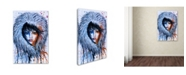 """Trademark Global Michelle Faber 'Fire And Ice Girl Portrait' Canvas Art - 19"""" x 12"""" x 2"""""""