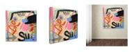 "Trademark Global Wyanne 'Super Love' Canvas Art - 14"" x 14"" x 2"""