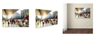 "Trademark Global Robert Harding Picture Library 'Sidewalk' Canvas Art - 47"" x 30"" x 2"""