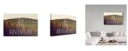 "Trademark Global Vintage Skies 'An Epic Adventure' Canvas Art - 19"" x 12"" x 2"""