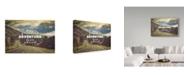 "Trademark Global Vintage Skies 'The Greatest Adventure' Canvas Art - 47"" x 30"" x 2"""