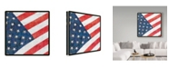"Trademark Global Sher Sester 'All American Flag 1' Canvas Art - 35"" x 35"" x 2"""