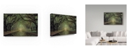 "Trademark Global Moises Levy 'Wormsloe Avenue' Canvas Art - 19"" x 12"" x 2"""