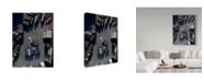 "Trademark Global Moises Levy 'Blue Boxes' Canvas Art - 32"" x 24"" x 2"""