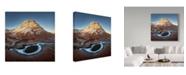 "Trademark Global Shenshen Dou 'Alien Planet Ice Pocket' Canvas Art - 18"" x 2"" x 18"""