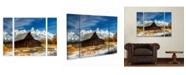 "Trademark Global Pierre Leclerc 'Iconic Barn Grand Teton' Multi Panel Art Set Large 3 Piece - 44"" x 34"" x 2"""