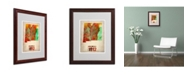"""Trademark Global Naxart 'New Mexico Watercolor Map' Matted Framed Art - 16"""" x 20"""" x 0.5"""""""