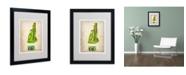 "Trademark Global Naxart 'New Hempshire Watercolor Map' Matted Framed Art - 20"" x 16"" x 0.5"""