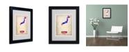 "Trademark Global Naxart 'Japan Watercolor Map' Matted Framed Art - 14"" x 11"" x 0.5"""