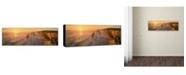 "Trademark Global John Xiong 'Seashore Sunrise' Canvas Art - 47"" x 16"" x 2"""