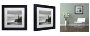 """Trademark Global Moises Levy 'Morro Lighthouse' Matted Framed Art - 11"""" x 11"""" x 0.5"""""""