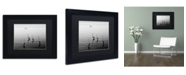 """Trademark Global Moises Levy '4 Herons and Boat' Matted Framed Art - 11"""" x 14"""" x 0.5"""""""