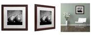 """Trademark Global Moises Levy 'Coqueteo Peras' Matted Framed Art - 16"""" x 16"""" x 0.5"""""""