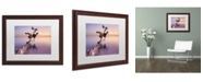 """Trademark Global Moises Levy 'Water Tree XI' Matted Framed Art - 20"""" x 16"""" x 0.5"""""""