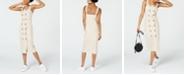 City Studios Juniors' Striped Button-Front Midi Dress