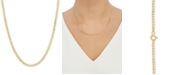 """Italian Gold Fine Curb Link 18"""" Chain Necklace in 14k Gold"""
