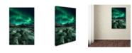 """Trademark Global Javier De La 'Ice Cracking' Canvas Art - 24"""" x 16"""" x 2"""""""