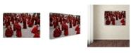 """Trademark Global Yvette Depaepe 'Monks Debating' Canvas Art - 24"""" x 16"""" x 2"""""""