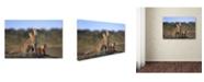 """Trademark Global Sultan Sultan Al 'Cheetahs Family' Canvas Art - 19"""" x 12"""" x 2"""""""