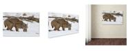 "Trademark Global Verdon 'Bob The Cat' Canvas Art - 24"" x 16"" x 2"""