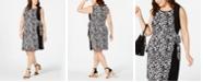 MSK Plus Size Animal-Print Wrap Dress