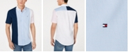 Tommy Hilfiger Men's Tobias Custom-Fit Pieced Colorblocked Shirt