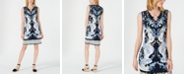 JM Collection Printed A-Line Keyhole Dress, Created for Macy's