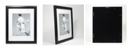 """Lawrence Frames Black Gallery Frame Matted To 8x10 - 11"""" x 14"""""""