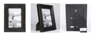 """Lawrence Frames Durham Weathered Black Wood Picture Frame - 4"""" x 6"""""""