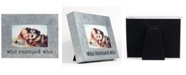 """Lawrence Frames Galvanized Metal Picture Frame - Who Rescued Who - 4"""" x 6"""""""