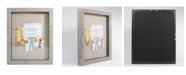 """Lawrence Frames Weathered Birch Shadow Box - Linen Display Area - 11"""" x 14"""""""