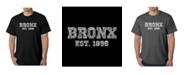 LA Pop Art Mens Word Art T-Shirt - Popular Bronx, NY Neighborhoods