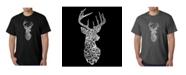 LA Pop Art Mens Word Art T-Shirt - Types of Deer