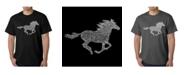 LA Pop Art Mens Word Art T-Shirt - Mustang