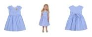 Laura Ashley Girl's Cap Sleeve Seersucker Dress