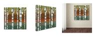 """Trademark Global Michelle Calkins 'Birches' Canvas Art - 14"""" x 14"""""""
