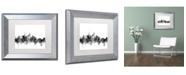 """Trademark Global Michael Tompsett 'Beijing China Skyline B&W' Matted Framed Art - 11"""" x 14"""""""