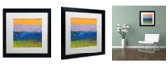 "Trademark Global Michelle Calkins 'Thistle Field' Matted Framed Art - 16"" x 16"""