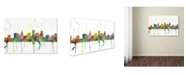 "Trademark Global Marlene Watson 'St Paul Minnesota Skyline Mclr-1' Canvas Art - 12"" x 19"""