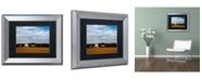 "Trademark Global PIPA Fine Art 'Red Barn in Golden Field' Matted Framed Art - 11"" x 14"""