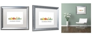 "Trademark Global Marlene Watson 'Colorado Springs CO Skyline WB-1' Matted Framed Art - 16"" x 20"""