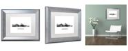 "Trademark Global Marlene Watson 'Augusta Georgia Skyline WB-BW' Matted Framed Art - 11"" x 14"""
