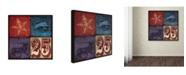 "Trademark Global Stephanie Marrott 'Holiday 4 Patch II' Canvas Art - 14"" x 14"""