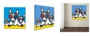 "Trademark Global Mark Ashkenazi 'Dogi' Canvas Art - 14"" x 14"""