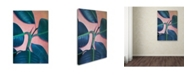 """Trademark Global Mark Ashkenazi 'Ficus Elastica' Canvas Art - 12"""" x 19"""""""