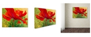 "Trademark Global Marion Rose 'Red Poppy I' Canvas Art - 14"" x 19"""